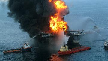 Авария на нефтяной платформе BP в Мексиканском заливе. Архив