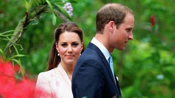 Герцогиня Кембриджская Кэтрин с супругом, принцем Уильямом. Архив