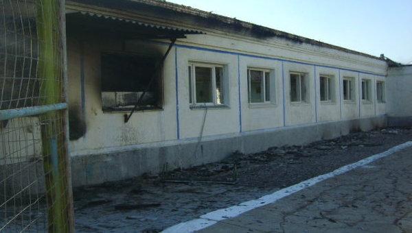 Пожар в колонии номер 10 Краснокаменска, где сидел Ходорковский. Здание столовой