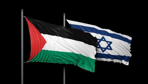 Флаги Израиля и Палестины