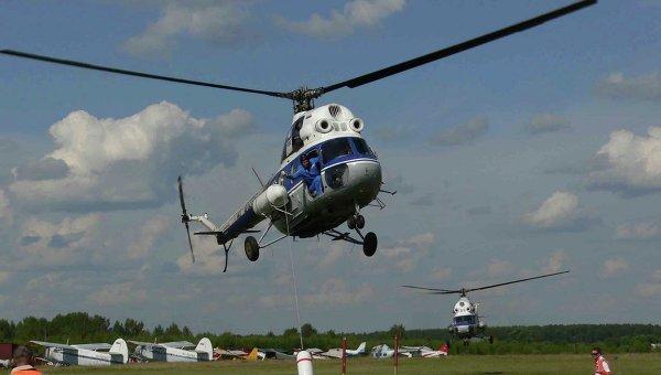 Вертолет, принадлежащий ОАО Вертолёты России. Архив