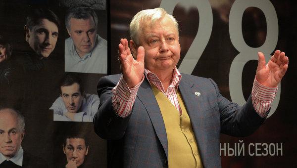 Художественный руководитель театра-студии Табакерка Олег Табаков
