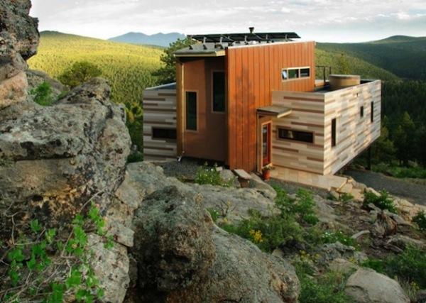 Colorado Shipping Container Home: дом из контейнеров на склонах Колорадо