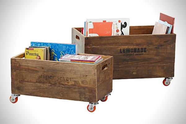 Винтажные ящики для хранения вещей. Идеи для дизайна интерьеров