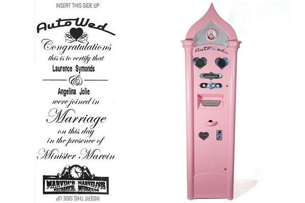 Autowed Wedding Machine - торговый автомат для нетерпеливых влюбленных и фанатов
