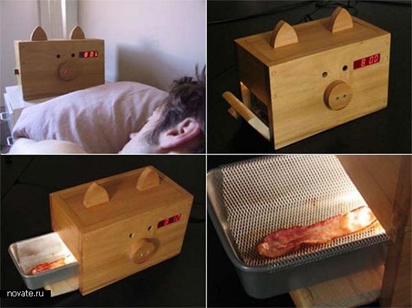 Заботливый будильник Bacon Alarm Clock