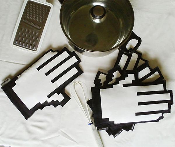 Геймерские кухонные рукавицы Pixel oven mitts