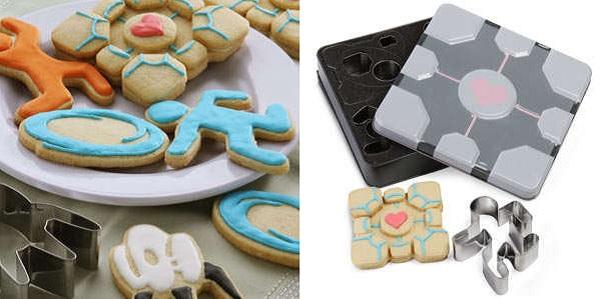 Гиковский набор для выпечки Portal cookie cutter set