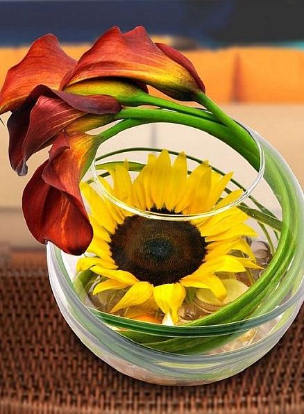 Композиция из двух цветков