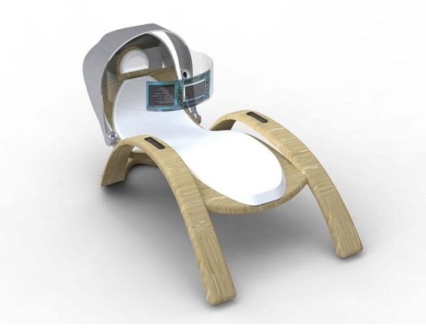 Массажный стул с компьютером Galatea SPA Chair - концепт Verenice Macedo