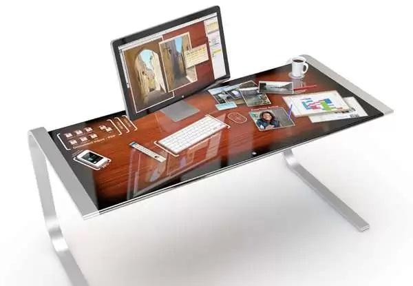 iDesk - концептуальный офисный стол от Adam Benton