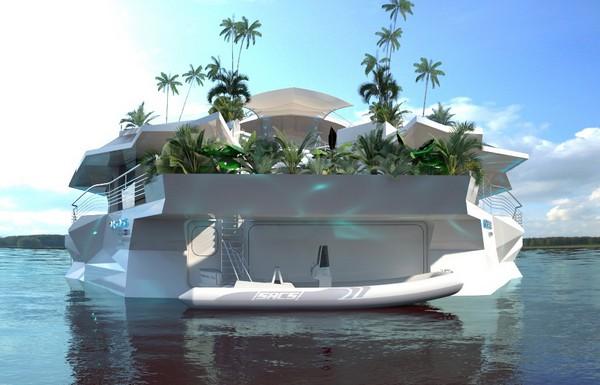 Остров Орсос – плавающий дом с собственным парком