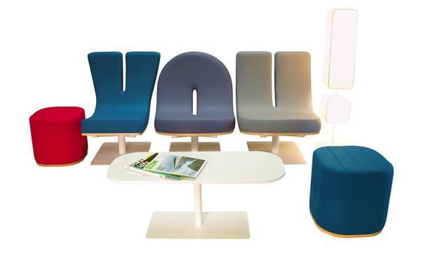 Кресла Typographia в виде букв и цифр: говорящая мебель в действии