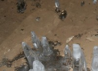 Фото некого следа в Азасской пещере (Кузбасс), который возможно оставил йети