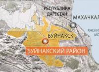 Буйнакский район. Карта