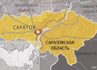 Карта Саратова