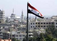 Флаг Сирии в Дамаске