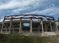 Строящийся стадион Зенит-Арена в Санкт-Петербурге. Архив