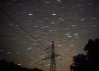 Общий вид метеоритного дождя Персеиды