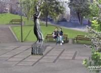 Проект памятника Катюше во Владивостоке по эскизу №8