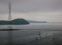 Акватория Владивостока в пасмурную погоду