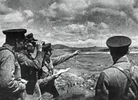 Советские командиры на берегу озера Хасан во время вторжения японских войск