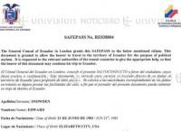 ТВ обнародовало транзитный документ, якобы выданный Сноудену консульством Эквадора