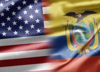 Флаги США и Эквадора