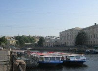 На набережной Фонтанки в Петербурге