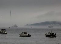 Акватория Владивостока в тумане