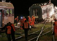 Столкновение поездов в Швейцарии