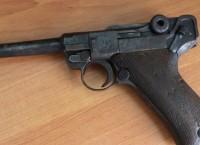 В кузбасском лесу найден немецкий пистолет Парабеллум времен ВОВ