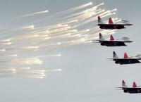 Истребители Миг-29 пилотажной группы Стрижи. Архив