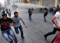 Разгон митинга в центре Стамбула