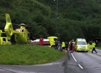 Пострадавшие в результате пожара, произошедшего в понедельник на юге Норвегии в автомобильном туннеле