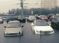 Проливной дождь в Москве