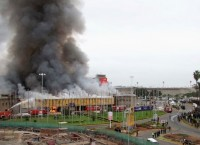 Пожар в аэропорту Найроби в Кении