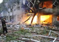 На месте взрыва газа в жилом доме в Росарио (Аргентина)