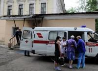 Обрушение стены в городской больнице №1 в центре Красноярска