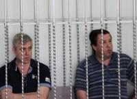 Василий Крутько и Виктор Жданов на скамье подсудимых