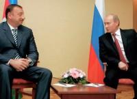 Президент Азербайджана Ильхам Алиев и президент России Владимир Путин во время встречи в государственной резиденции «Алмалы», 2006