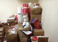Изъятые из квартиры на Чистопрудном бульваре агитационные материалы