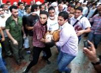 Cторонники свергнутого президента Египта Мурси о время акции протеста в Каире, 16 августа 2013