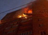 Пожар на улице Тунгусской во Владивостоке