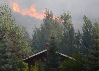 Пожар в штате Айдахо
