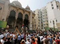 Протестующие у мечети аль-Фатх в Каире