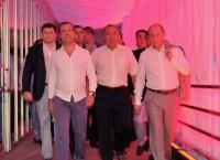 резидент России Владимир Путин, президент Казахстана Нурсултан Назарбаев и председатель правительства России Дмитрий Медведев (справа налево)