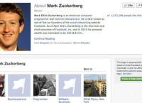 Скриншот страницы Марка Цукерберга в Facebook