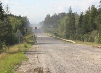Северная широтная дорога на севере Томской области, архивное фото