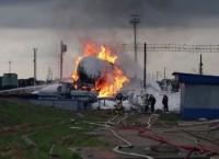 В Вологодской области загорелась цистерна с бензином